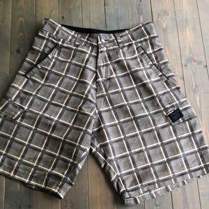 Men's check board shorts
